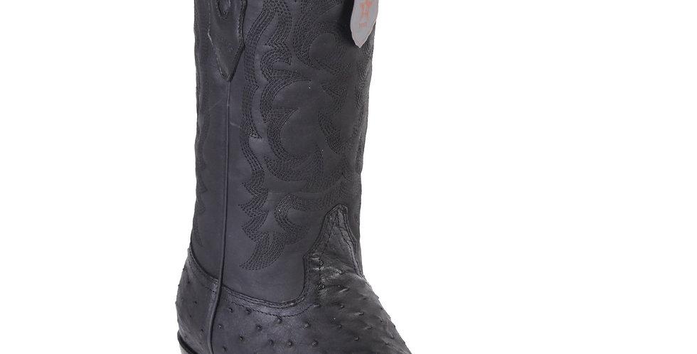 Los Altos Men's Black Grasso Snip Toe Western Boots