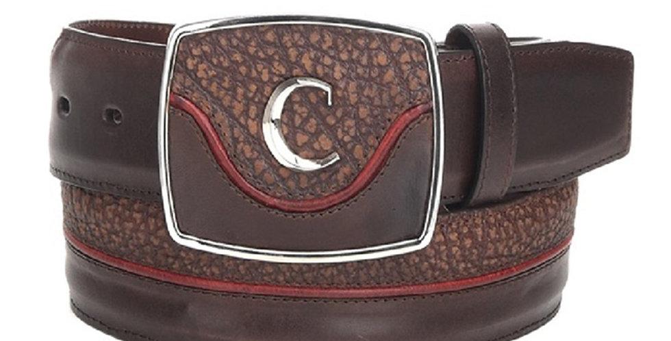 Cuadra Men's Modern Leather Belt Desert Brown Red