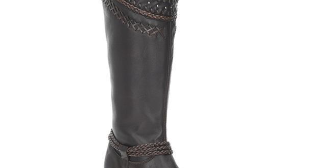 Cuadra Ladies Wax Brown Tall Boot - 2Q2AVL