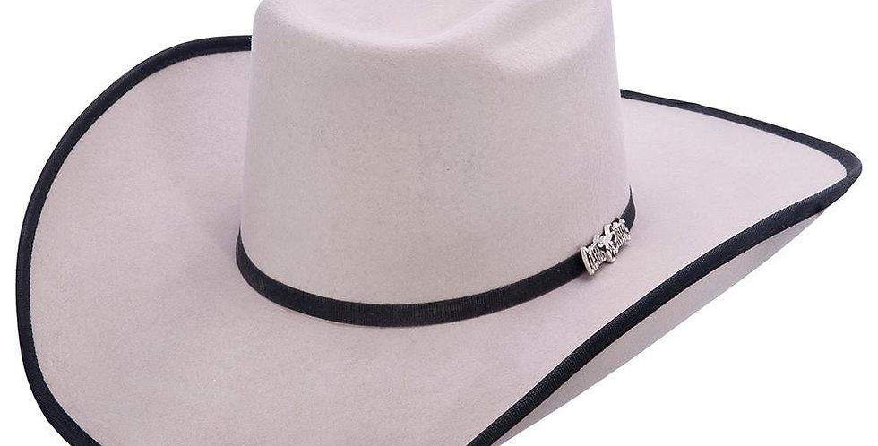 Cuernos Chuecos Grey Brick Crown Cowboy Felt Hat