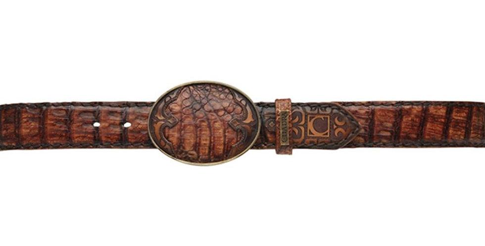 Cuadra Lumber Whisky Caiman Belt