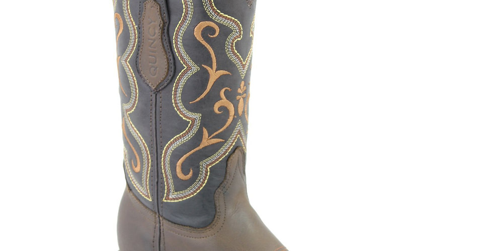 Quincy Tobacco Wide Square Toe Cowgirl Boots