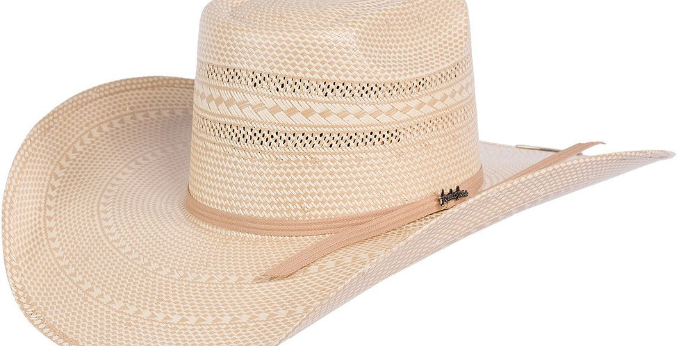Tombstone Longhorn Brick Crown Cowboy Hat Tan/Natural