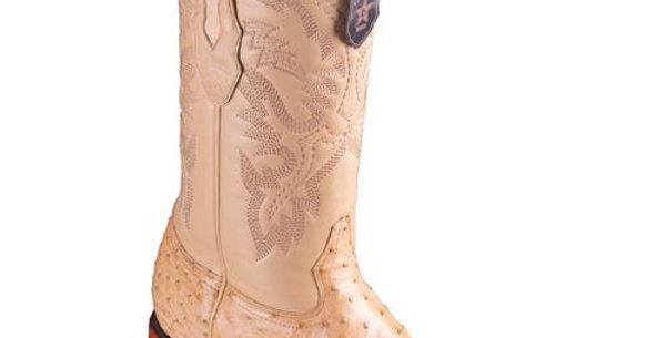 Los Altos Men's Ostrich Wide Square Boots - Oryx