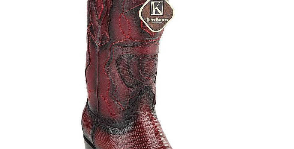 King Exotic Men's Lizard Snip Toe Western Boots