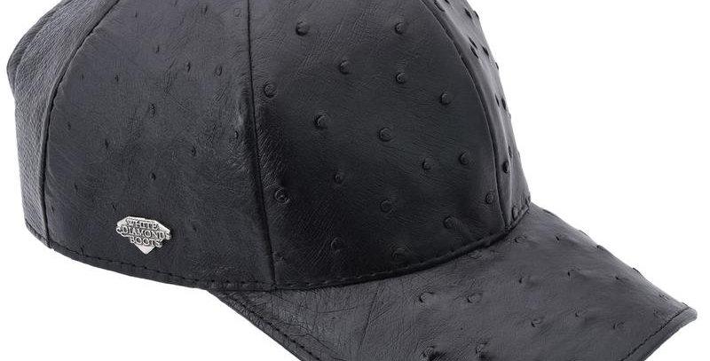 Cachucha Piel Avestruz Negro