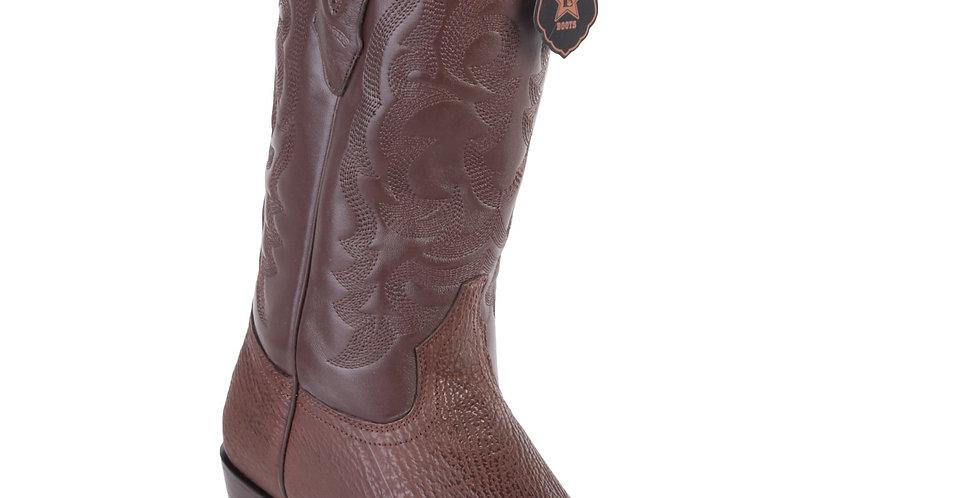 Los Altos Shark R-Toe Brown Cowboy Boots
