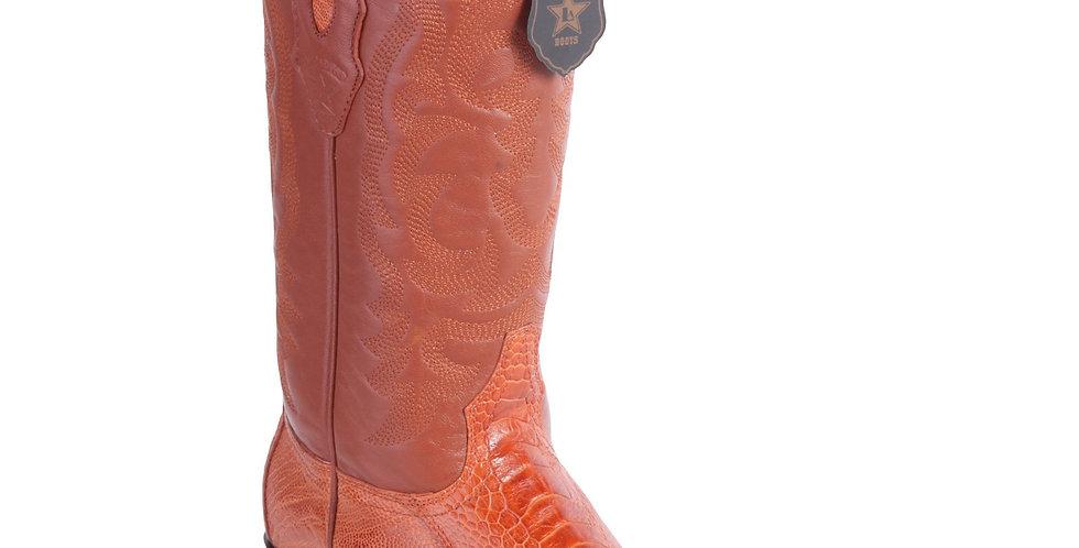 Los Altos Men's Cognac Ostrich Leg J-Toe Cowboy Boot