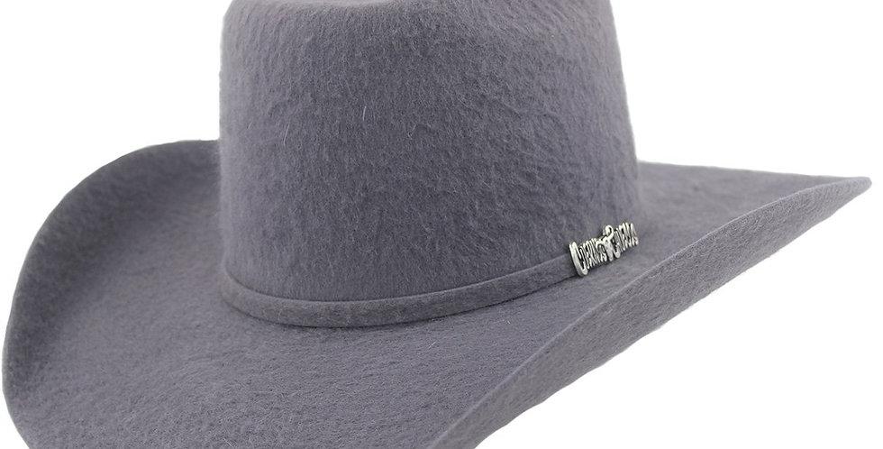 Cuernos Chuecos 10x Dark Gray Grizzly Fur Felt Cowboy Hat
