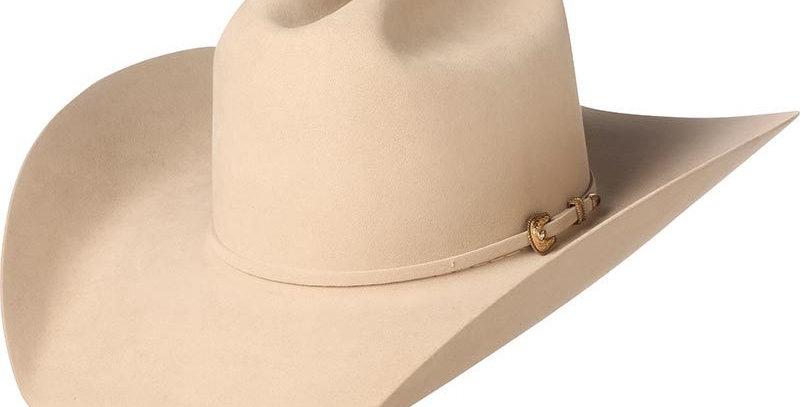 """American Silver Belly 1000X American Mink 4-1/4"""" Brim Felt Cowboy Hat"""