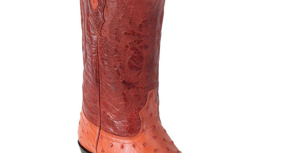 Los Altos Cognac Ostrich Cowboy Boot J Toe