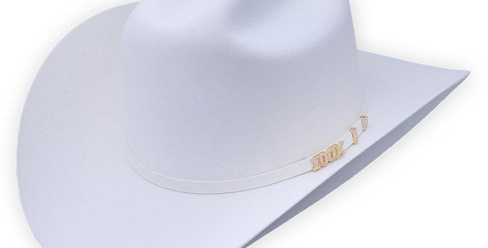 Serratelli Hat Company White 100X Beaver Felt Hat