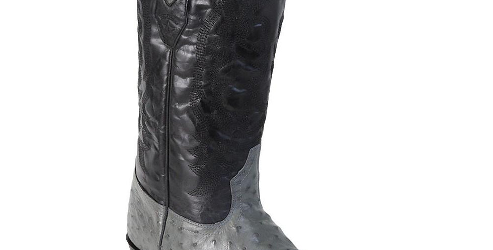 Los Altos Grey Ostrich Cowboy Boot J Toe