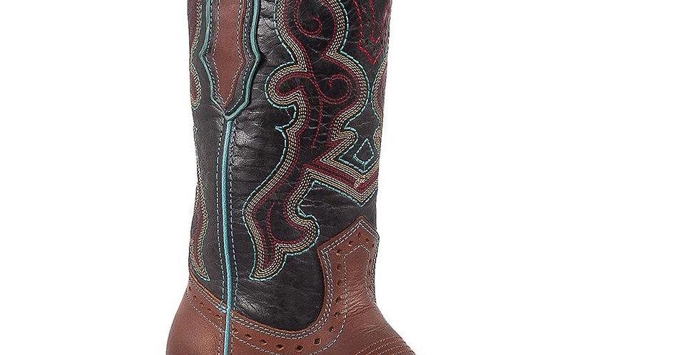 Cognac Square Toe Boots