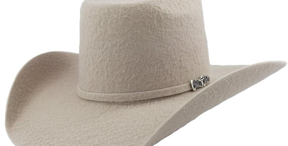 Cuernos Chuecos 10x Silver Belly Grizzly Brick Crown Cowboy Hat