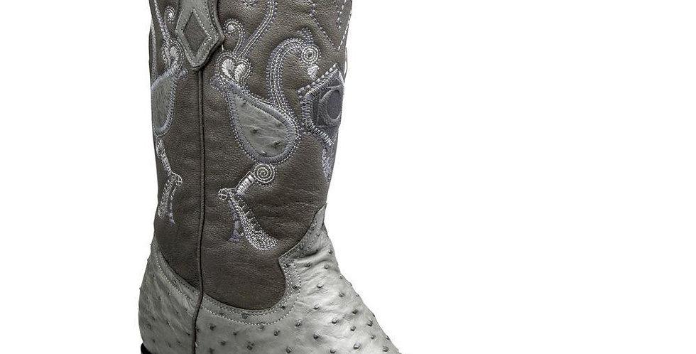 Cuadra Men's Traditional Ostrich Western Boots - Grey