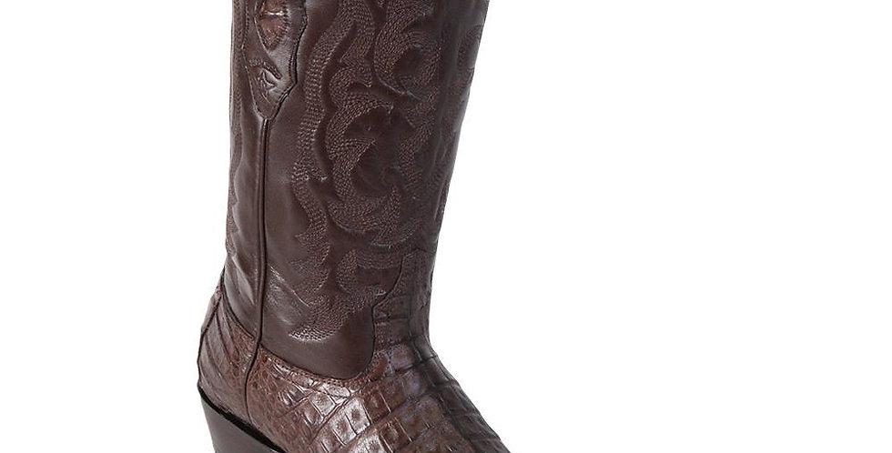 Los Altos Men's Caiman Belly Western Boots Round Toe