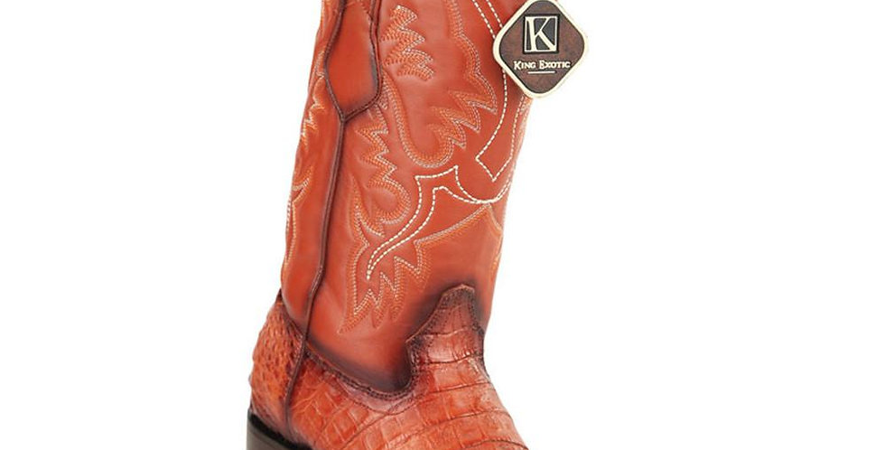 King Exotic Men's Caiman Belly Square Toe Cowboy Boot