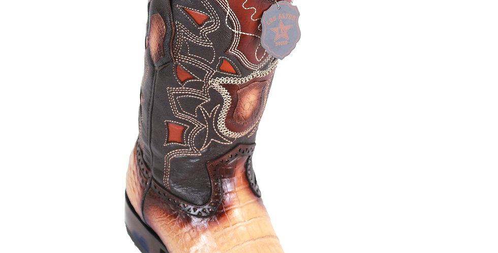 Los Altos Men's Caiman Belly European Toe Cowboy Boots - Faded Oryx