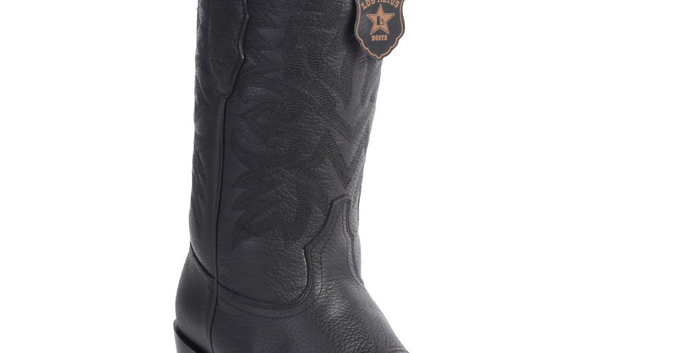 Los Altos Men's Cowboy Boots Grisly Black 7-Toe