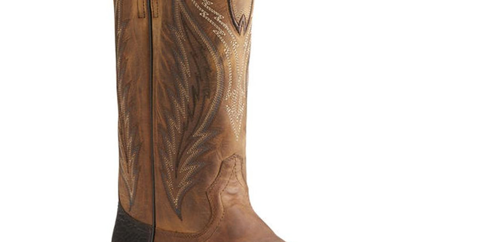 Ariat Mens Top Hand Square Toe Cowboy Boots - Trusty Tan