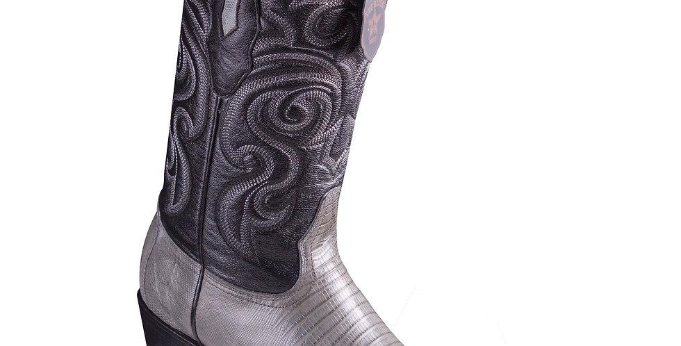 Los Altos Grey Teju R-Toe Cowboy Boots