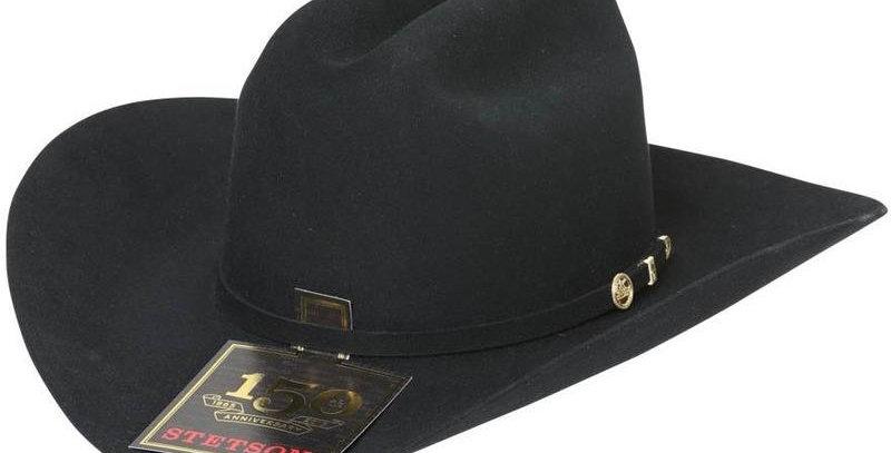 100x El Presidente Stetson Hat - Black
