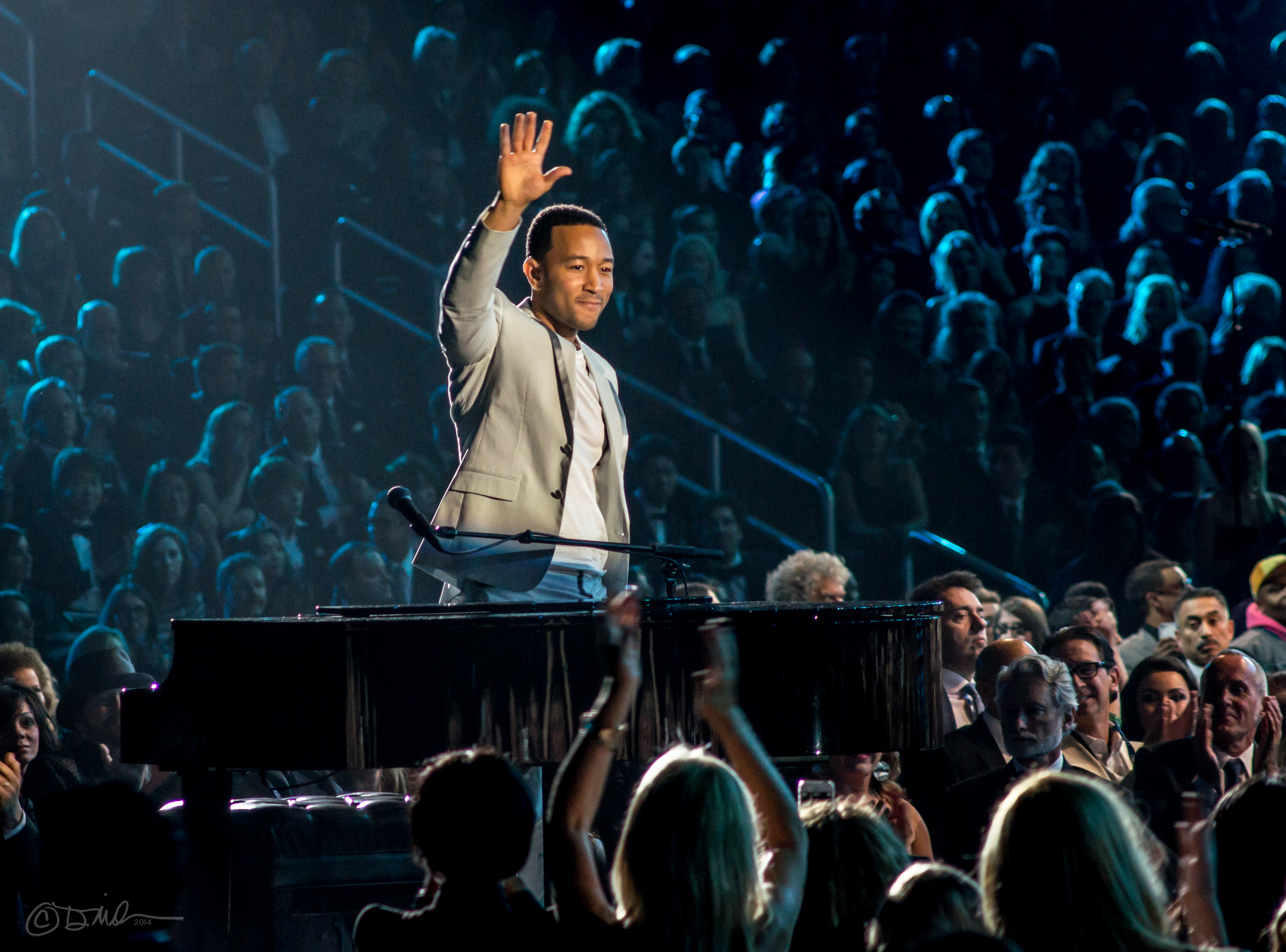 John Legend at the Grammys 2014