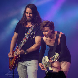 Joe and Lzzy from Halestorm