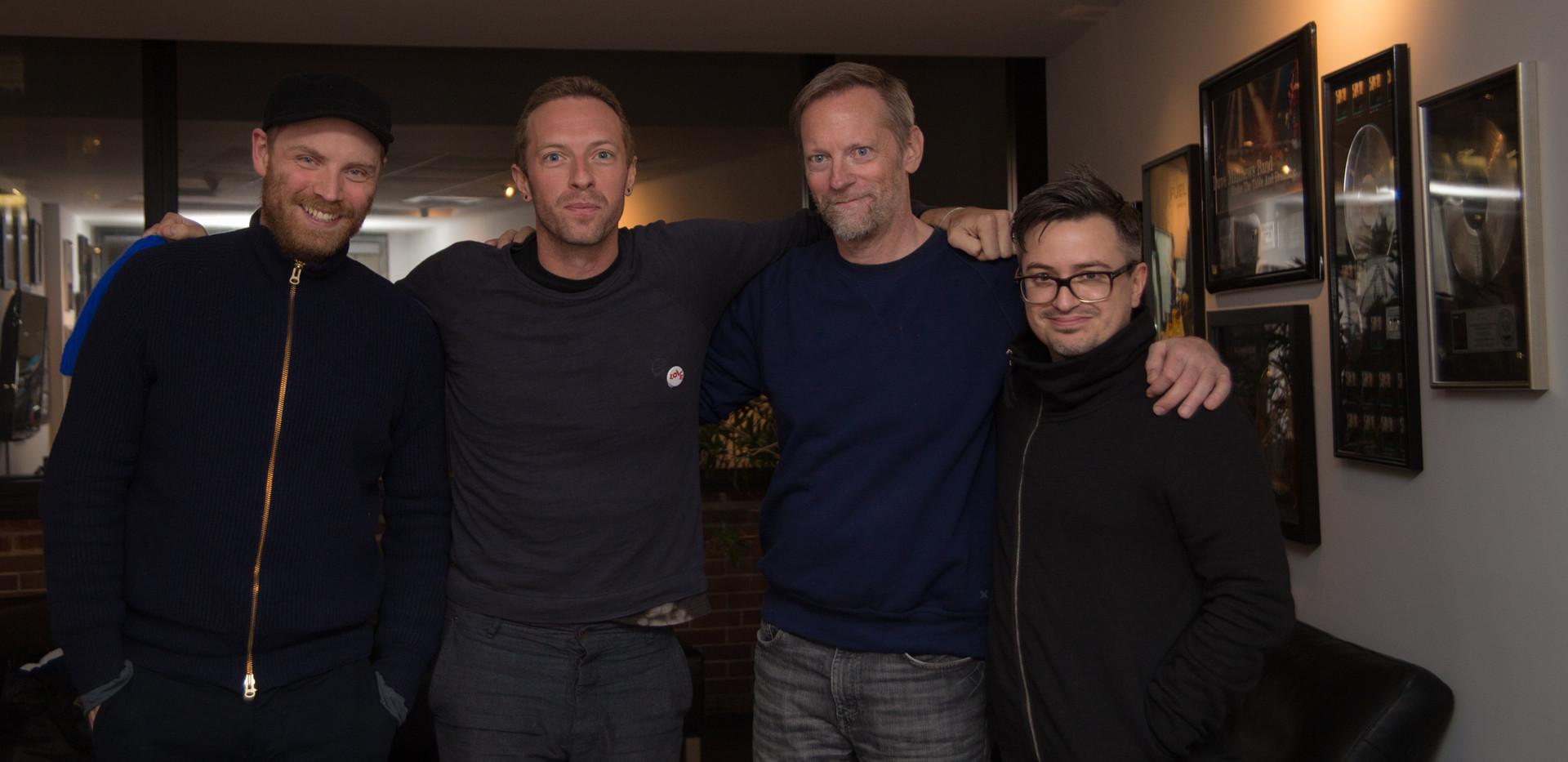 Jonny Buckland, Chris Martin, Ted Jensen, Rik Simpson during Ghost Stories