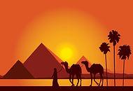 egypt-great-pyramids-on-sunset-backgroun