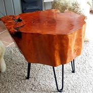 Massivholztisch mit Hairpinlegs