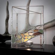 Kerzenlicht mit Strandglas