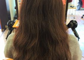 30代女性 カット カラー 縮毛矯正 トリートメント