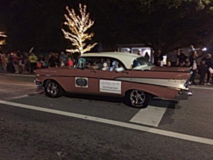 The 1957 Chevy BelAir in the Fairhope, Alabama Christmas Parade