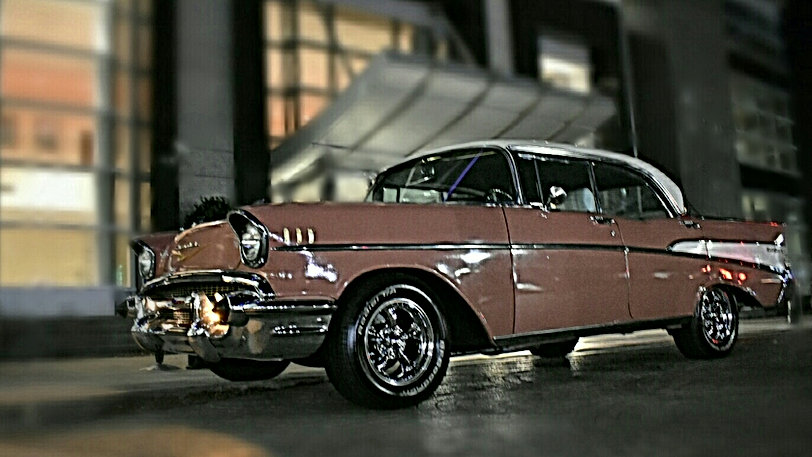 1957 Chevy BelAir available to rent for birthdays from Coastal Cruisers Classic Car Rentals