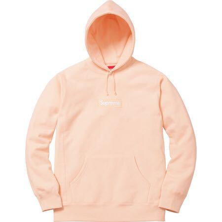 Supreme Classic Box Logo Hoodie Peach Coral