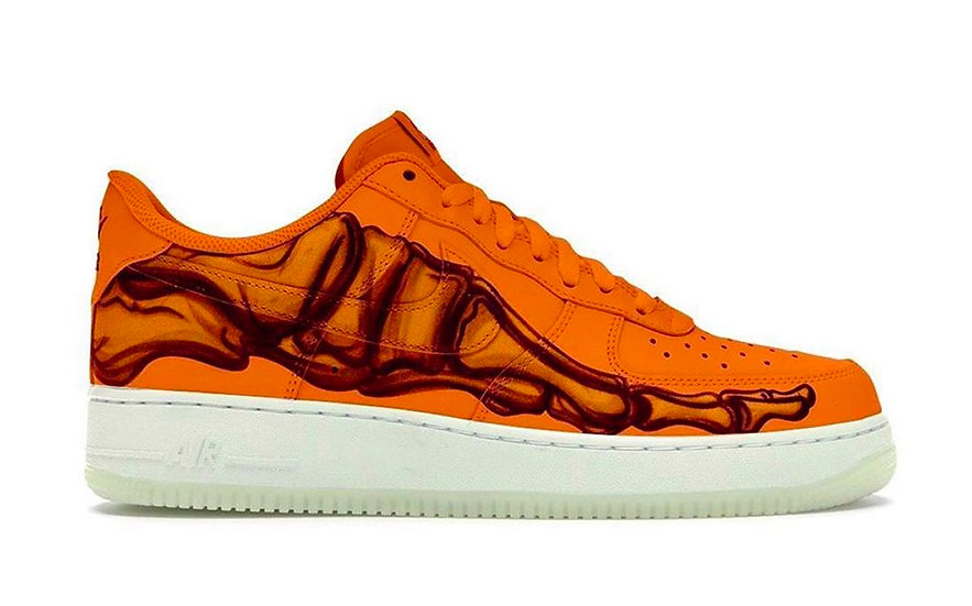 Nike Air Force 1 Low Skeleton Halloween Orange