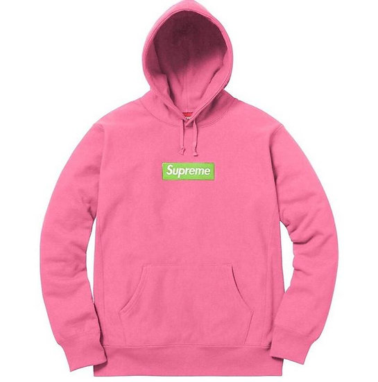 Supreme Classic Box Logo Hoodie Pink Lime