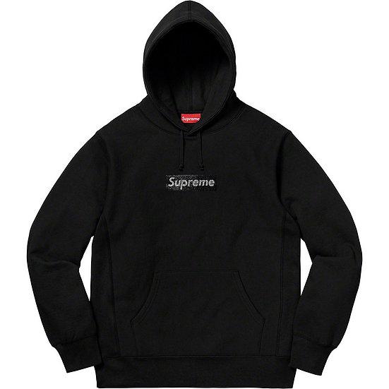 Supreme Swarovski Box Logo Hoodie