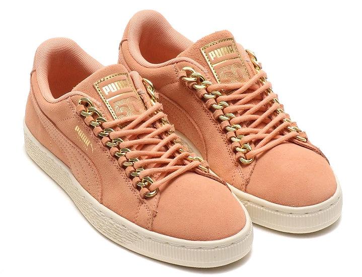Puma Suede Chains Pink Gold 50th Anniversary