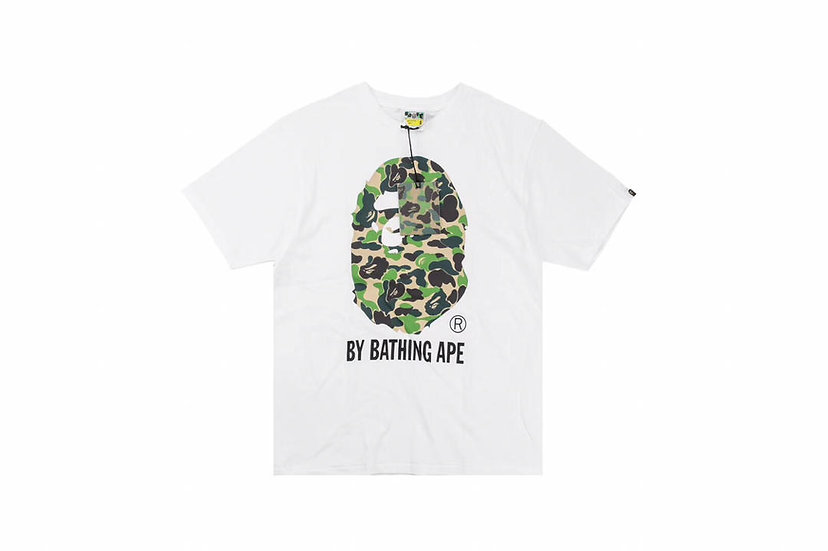 BP ABC Camo Bathing Tee- White/Green