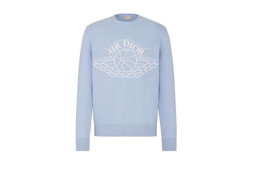 Dior x Jordan Sweater Powder Blue