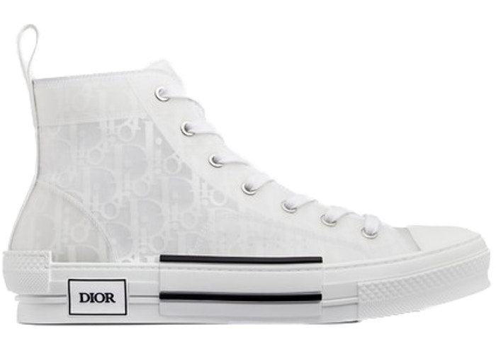 Dior Oblique High Top Triple White