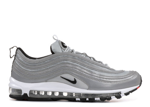 """sports shoes a2a93 799a9 Nike's iconic Air Max 97 has always been a head-turning shoe due to its  sleek, shiny, and speedy aesthetic, and Nike's new """"Reflect Silver"""" take on  the ..."""