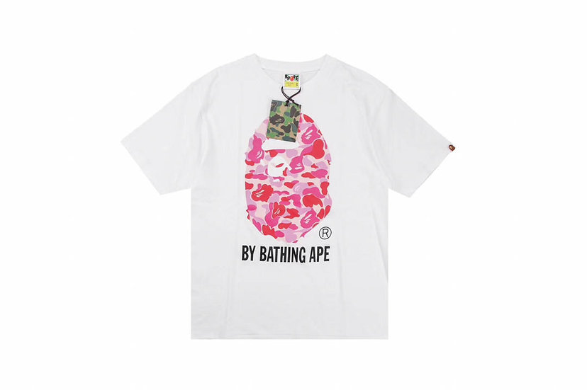 BP ABC Camo Bathing Tee- White/Red