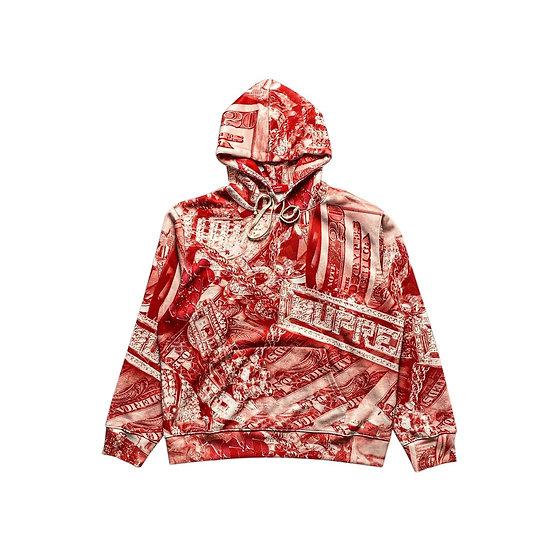 Supreme Bling Hoodie Red