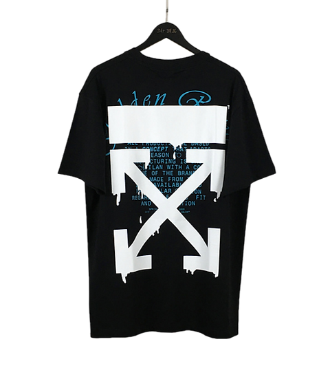 OFF-WHITE Dripping Arrows Tee Black