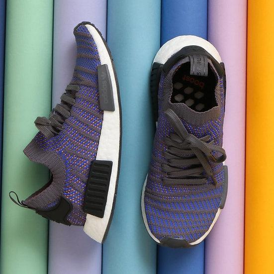adidas NMD_R1 Primeknit STLT Hi-Res Blue / Core Black / Chalk Coral
