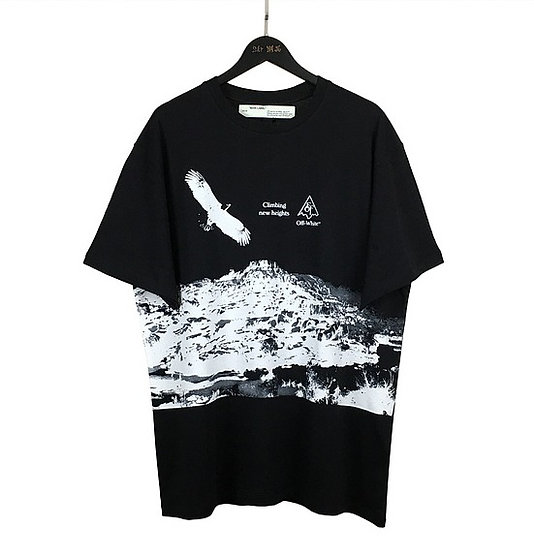 OFF-WHITE Climbing New Heights Tee Black